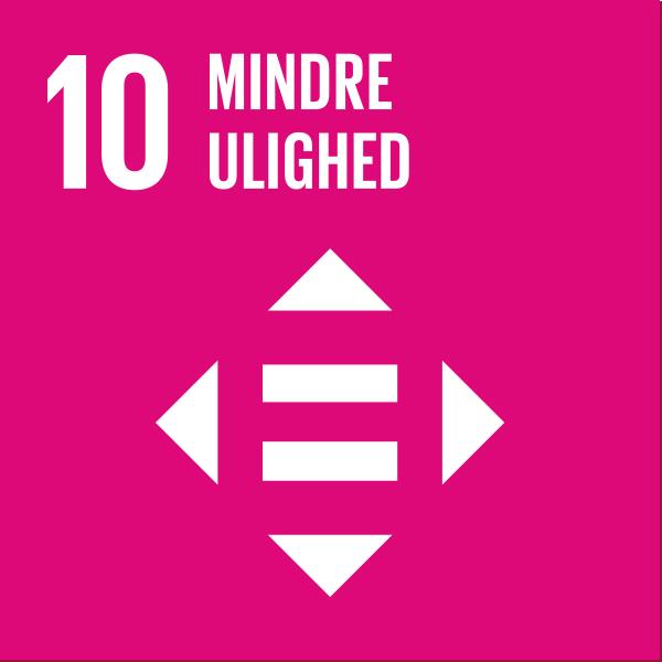 verdensmål nr 10 Mindre ulighed